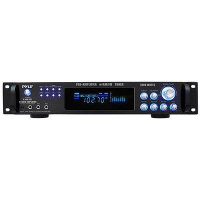 3,000 Watt Hybrid Home Stereo Receiver Amplifier with AM/FM Tuner - Audio Inputs & Outputs