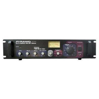 300 Watt PA Amplifier - 70V Output & Mic Talkover