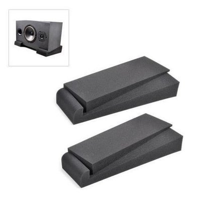 Acoustic Sound Isolation Dampening Recoil Stabilizer Speaker Risers (for Studio Monitor, Subwoofer, Loudspeakers, Shelf Speakers, etc.) 4'' x 12''