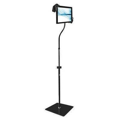 Universal Tablet iPad, Kindle, Android, eReader, Samsung Galaxy Nexus Floor Stand Holder with Adjustable/Bendable Swivel Gooseneck and Sturdy Base