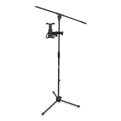 2-in-1 Microphone and Tablet Stand with Adjustable Height for all Tablets 4.7 to 8.7 Tall