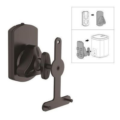 Dual Universal Wall Mount Speaker Stands, Tilt/Swivel Adjustable (Works with Sonos PLAY 1, PLAY 3)