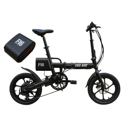 CMS-F16 36V 7.8AH 250W Black 16 Inches Folding Electric Bicycle With An Extra Battey Xiaomi E-bike