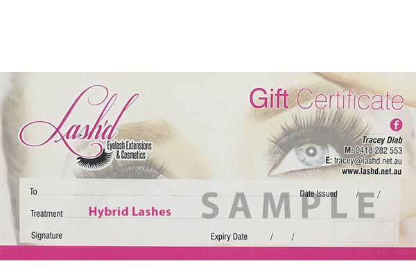 Hybrid Lashes Gift Voucher Hybrid Voucher
