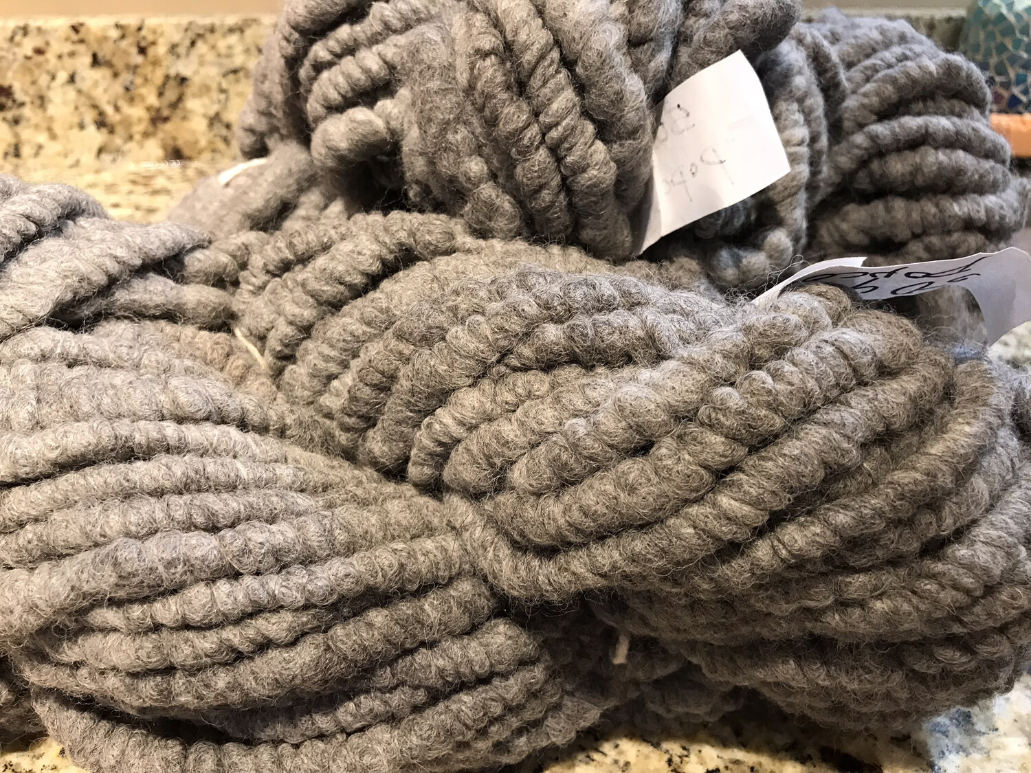 Popcorn Yarn - Grey 50 Yards