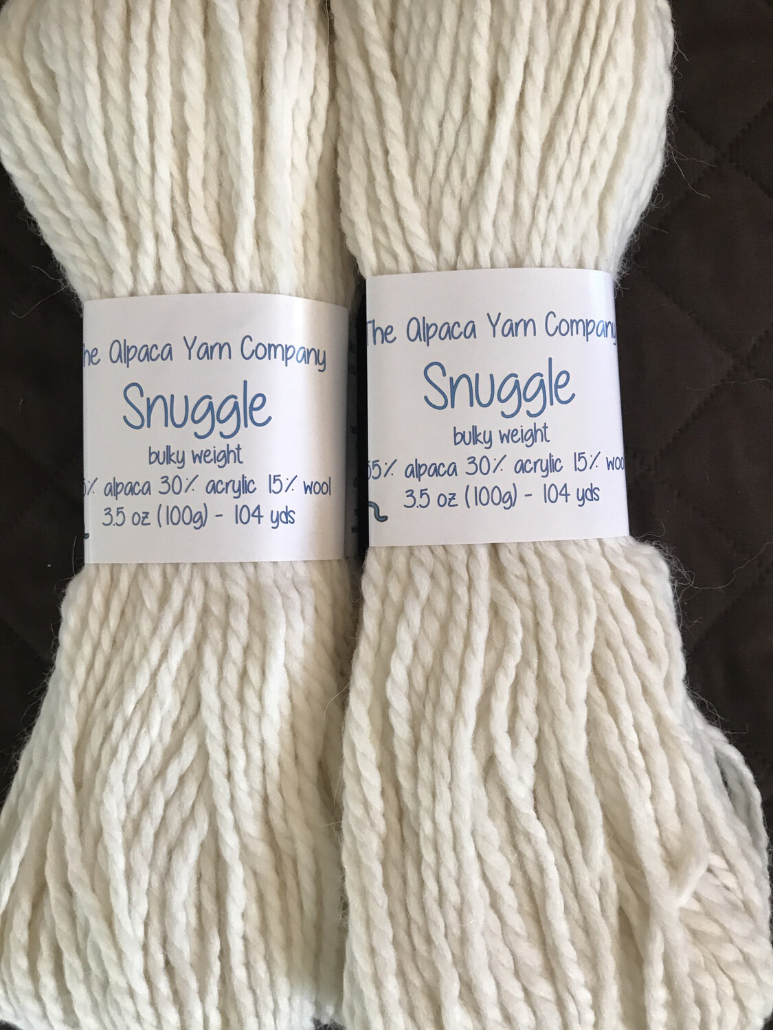 Alpaca Yarn - Snuggle - Snow White