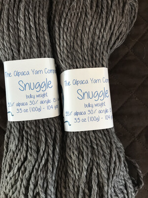 Alpaca Yarn - Snuggle - Gray Heather