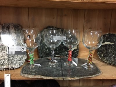 I heart alpaca charm wine glass