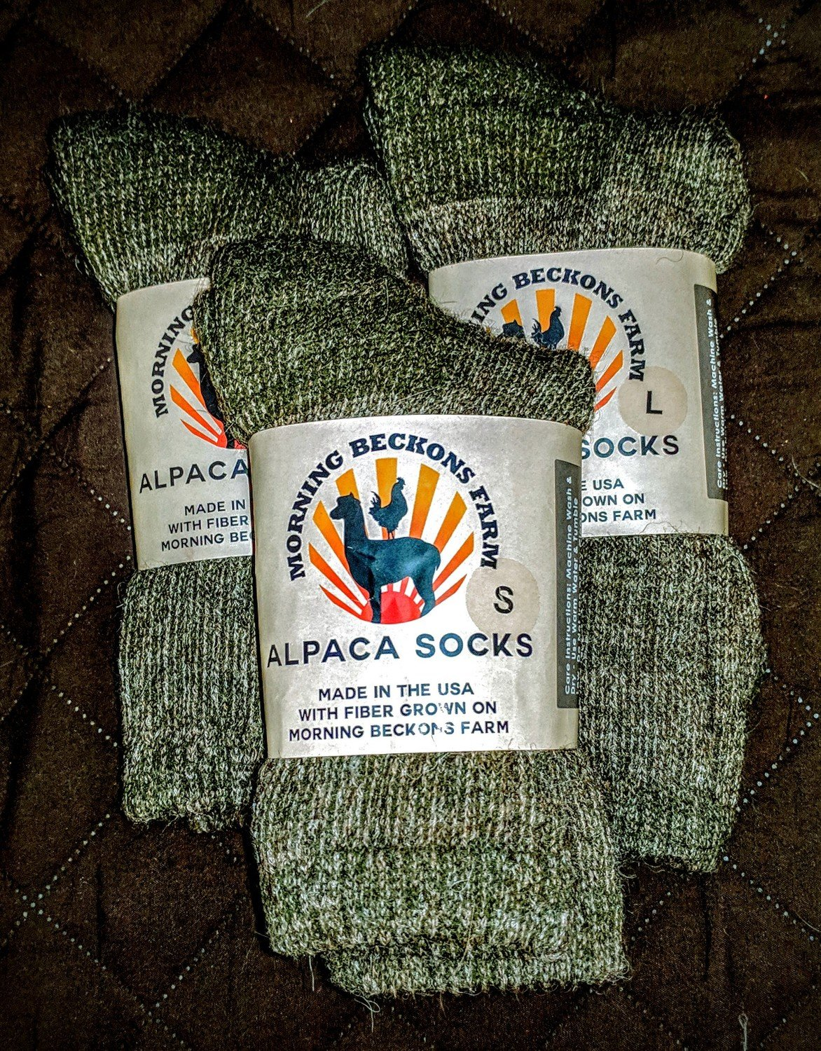 Morning Beckons Alpaca Socks