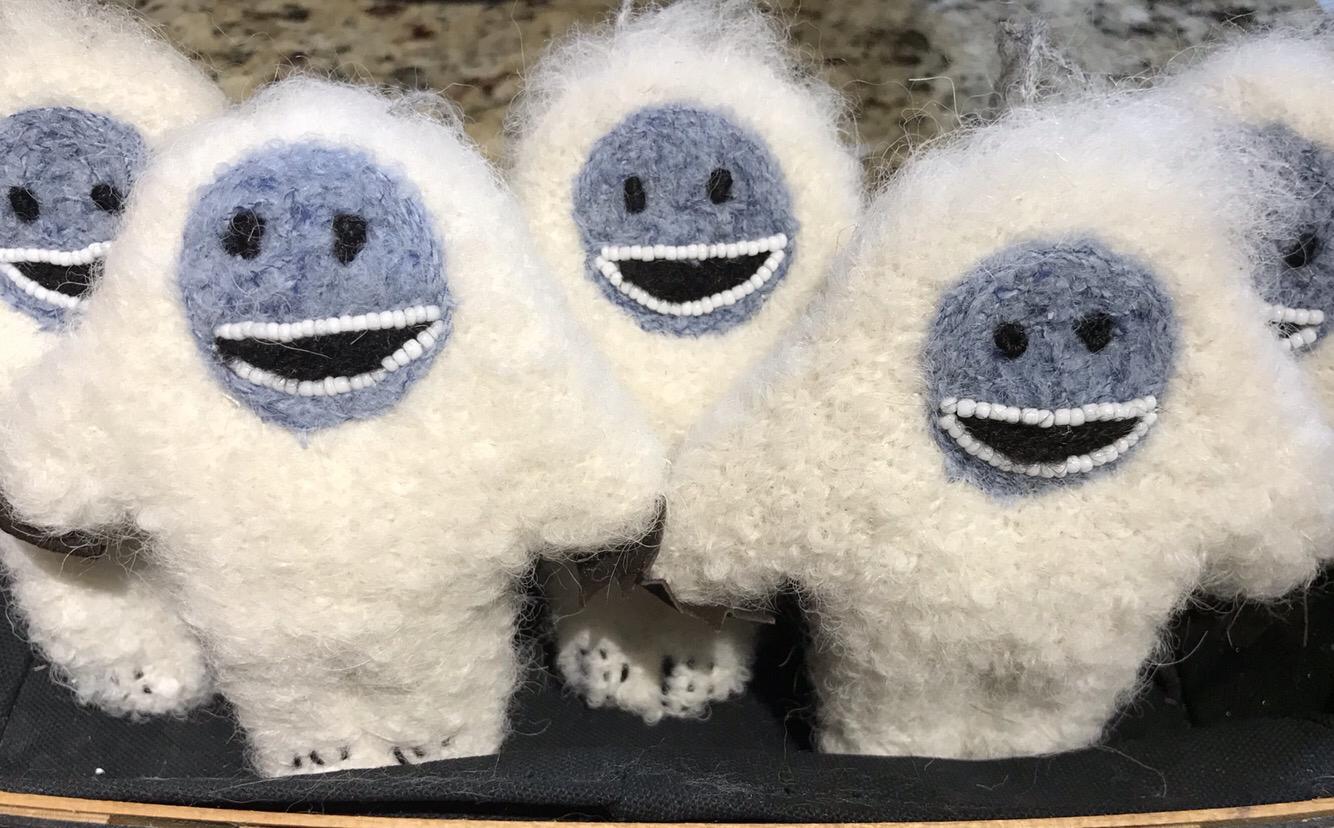 Fuzzy Yeti Ornament