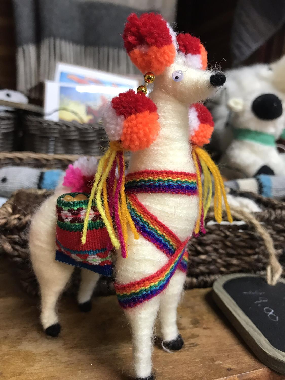 Festive Acrylic Llama