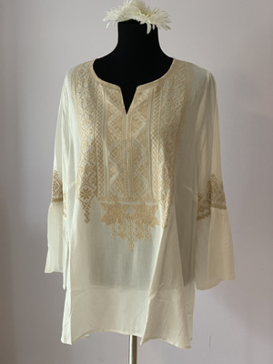 Ivory /taupe Pullover Tunic