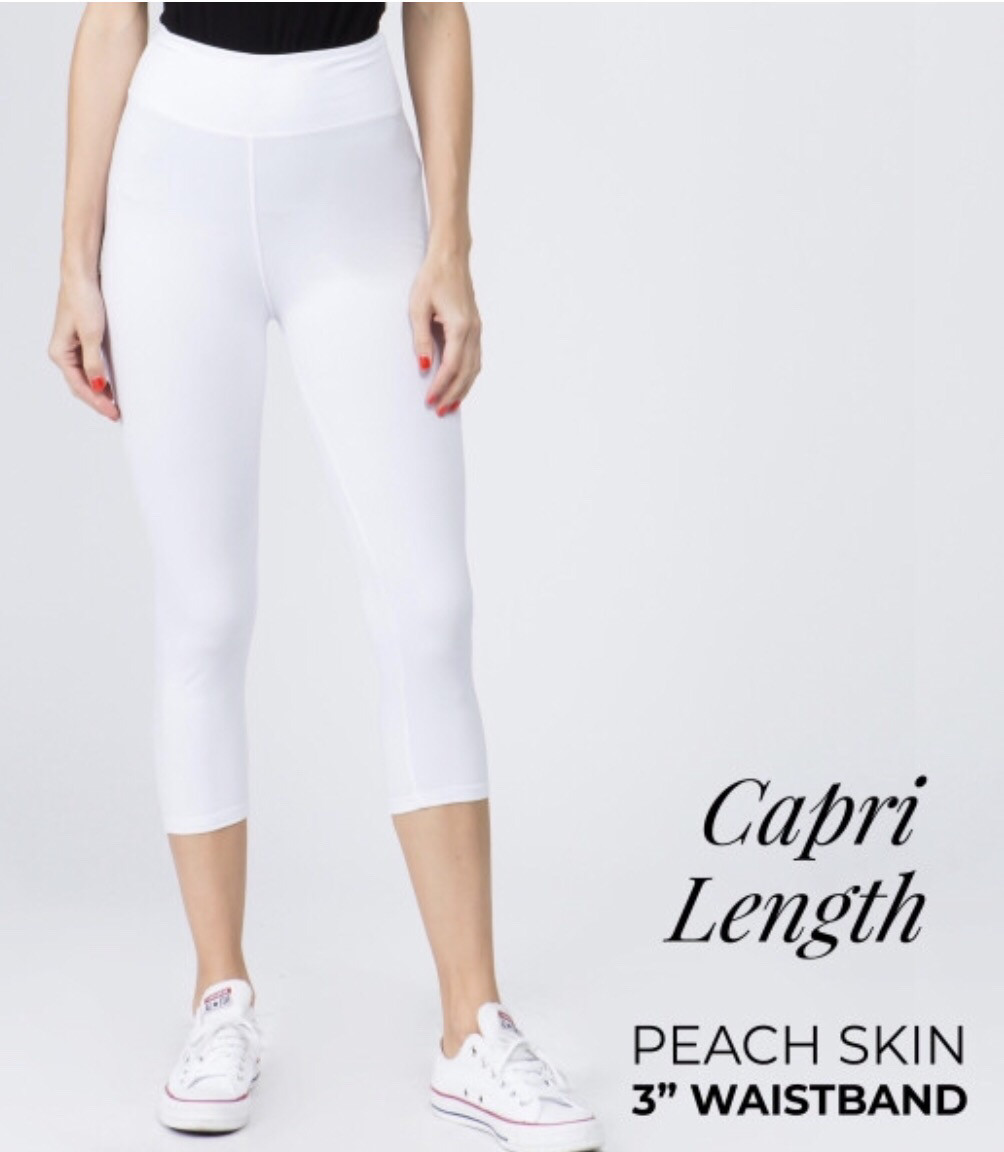 Peach skin Capri Legging