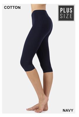 Cotton Capri Legging:PLUS SIZE