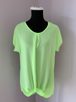 Neon Green Plus sheer shirt