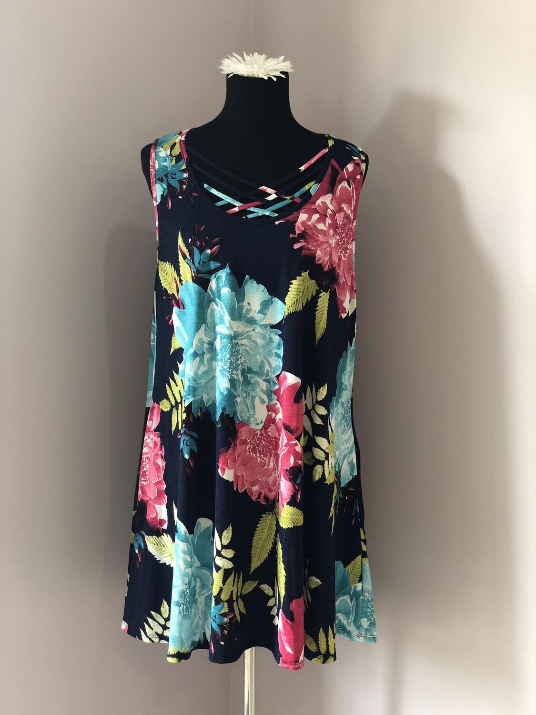 Plus Flowered Dress