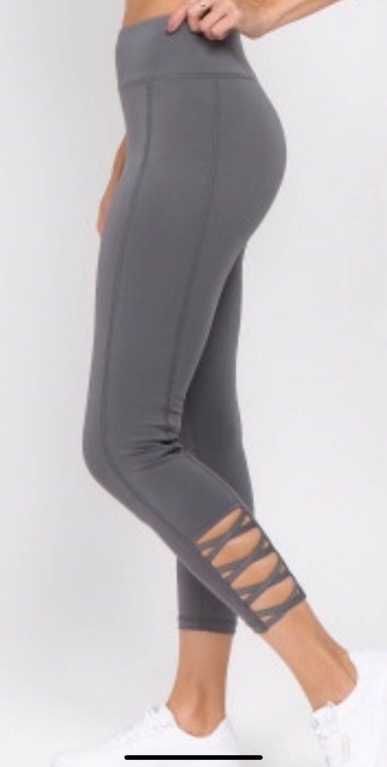 Grey Pull On Active Leggings