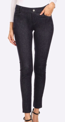Vintage Look Mid Rise Jeggings, Pull Up Style