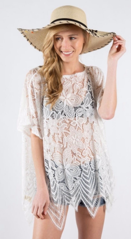 Floral Print Lace Top