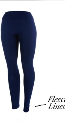 "Fleeced Lined leggings/ 3"" Band"