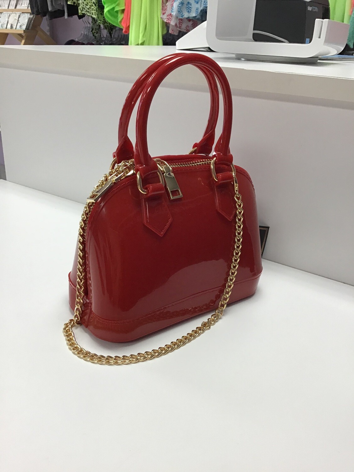 Miniture Jelly Handbags with Chain Strap