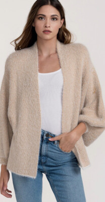 Fuzzy Knit Short Cardigan