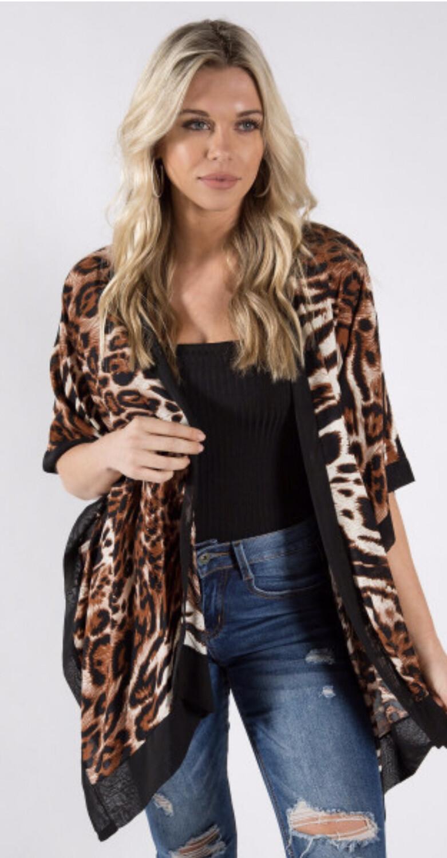 Animal/Leopard Print Kimono