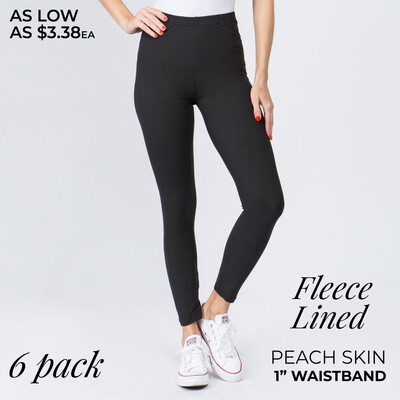 "Fleece Lined Leggings 1"" Band"