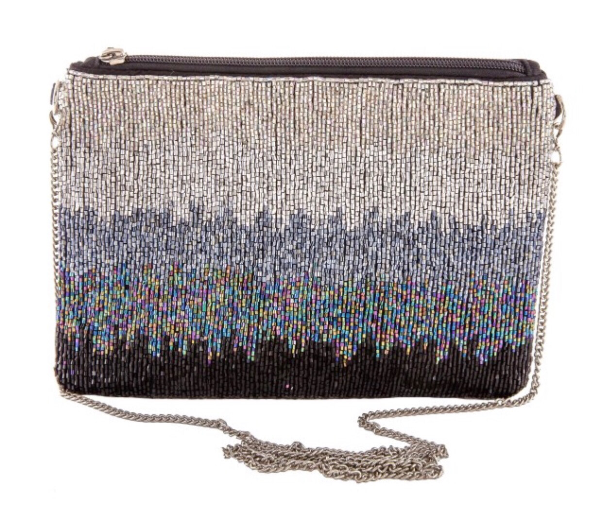 High Quality Beaded  Midnight Ombré Purse