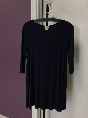 Navy Blue Pocket Dress