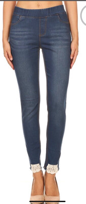 Light Jean With Lace Detail
