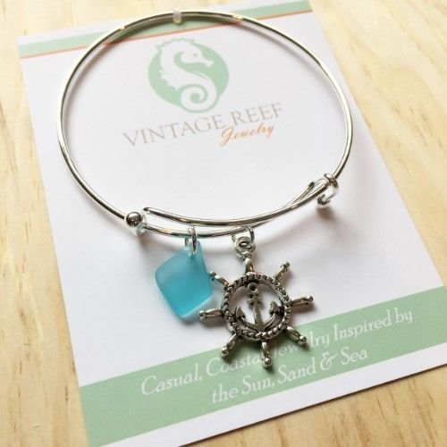 Charm Bracelet - Ship's Wheel & Anchor