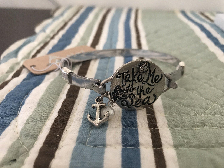 "Silver ""take me to the Sea"" Bracelet"