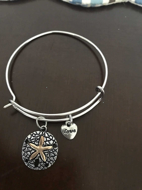 Silver Sand Dollar Bracelet