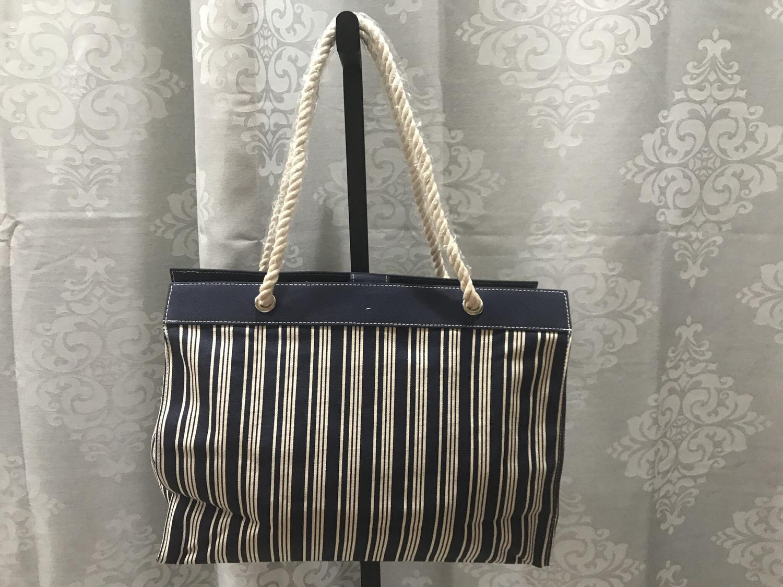 Blue striped bag