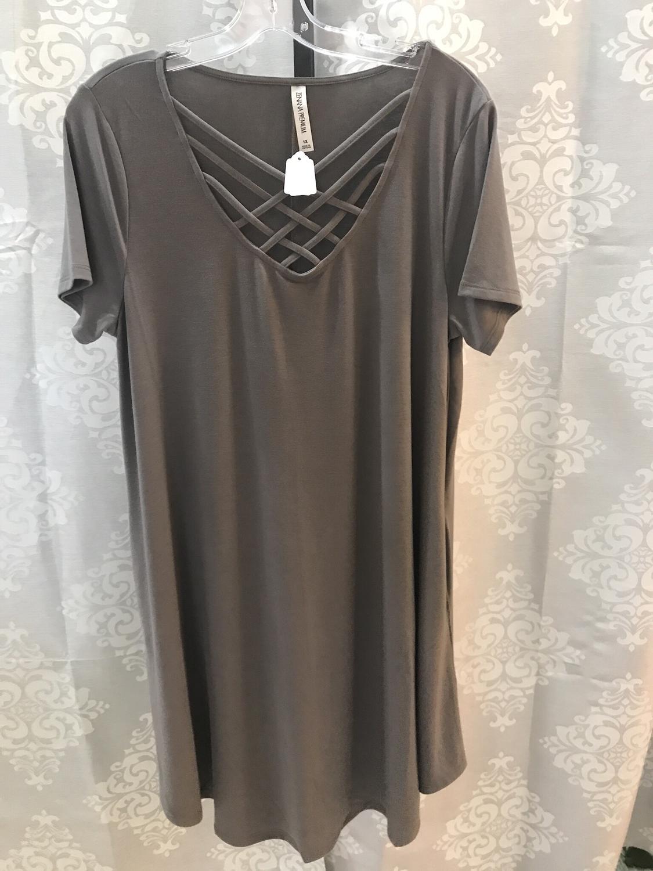 swing dress with cross cross front
