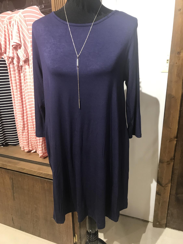 Lightweight jersey knit dress