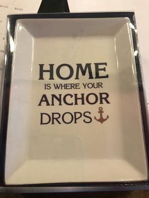Nautical sayings trinket dish