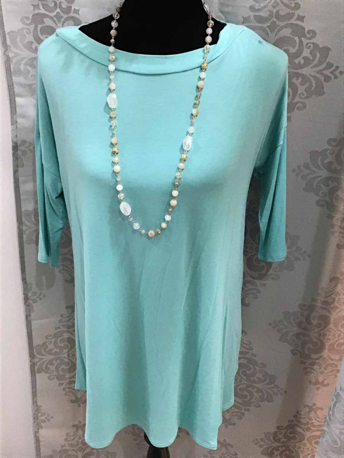 Turquoise Tunic length top