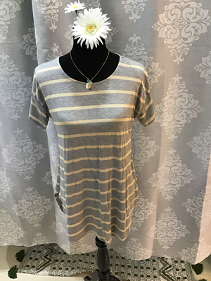 Grey/Gold Stripe
