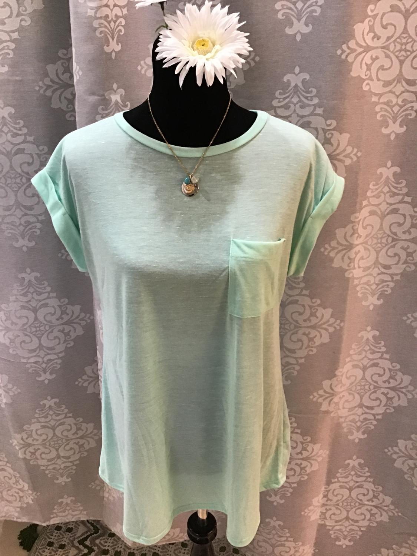 Mint green T shirt