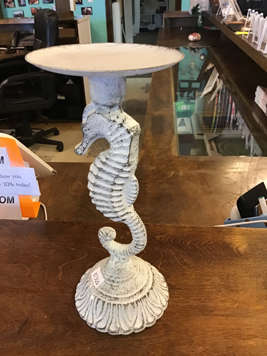 Seahorse candle holder sm