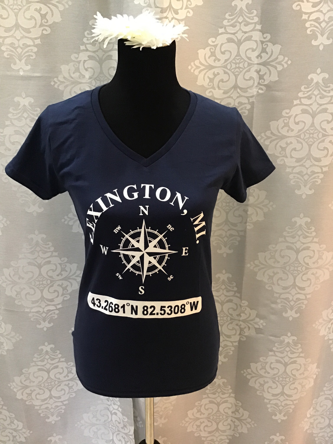 Lexington MI Vneck T-shirt