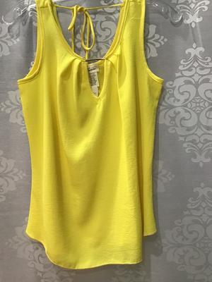 Textured yellow tank top