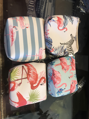 Flamingo zippered wallet