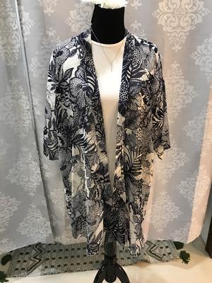 Navy blue/white kimono