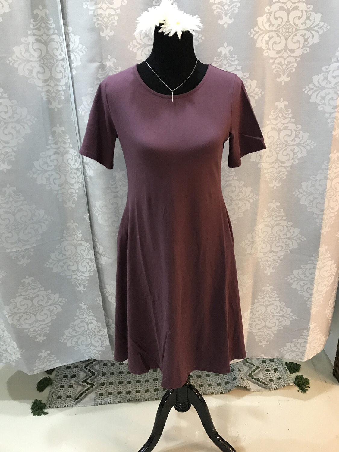 Eggplant Pocket Dress