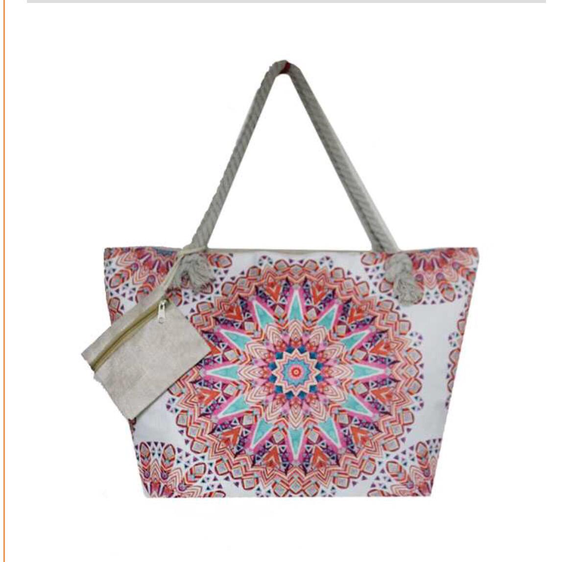 mulit colored medallion bag