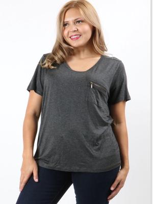 Zippered T shirt