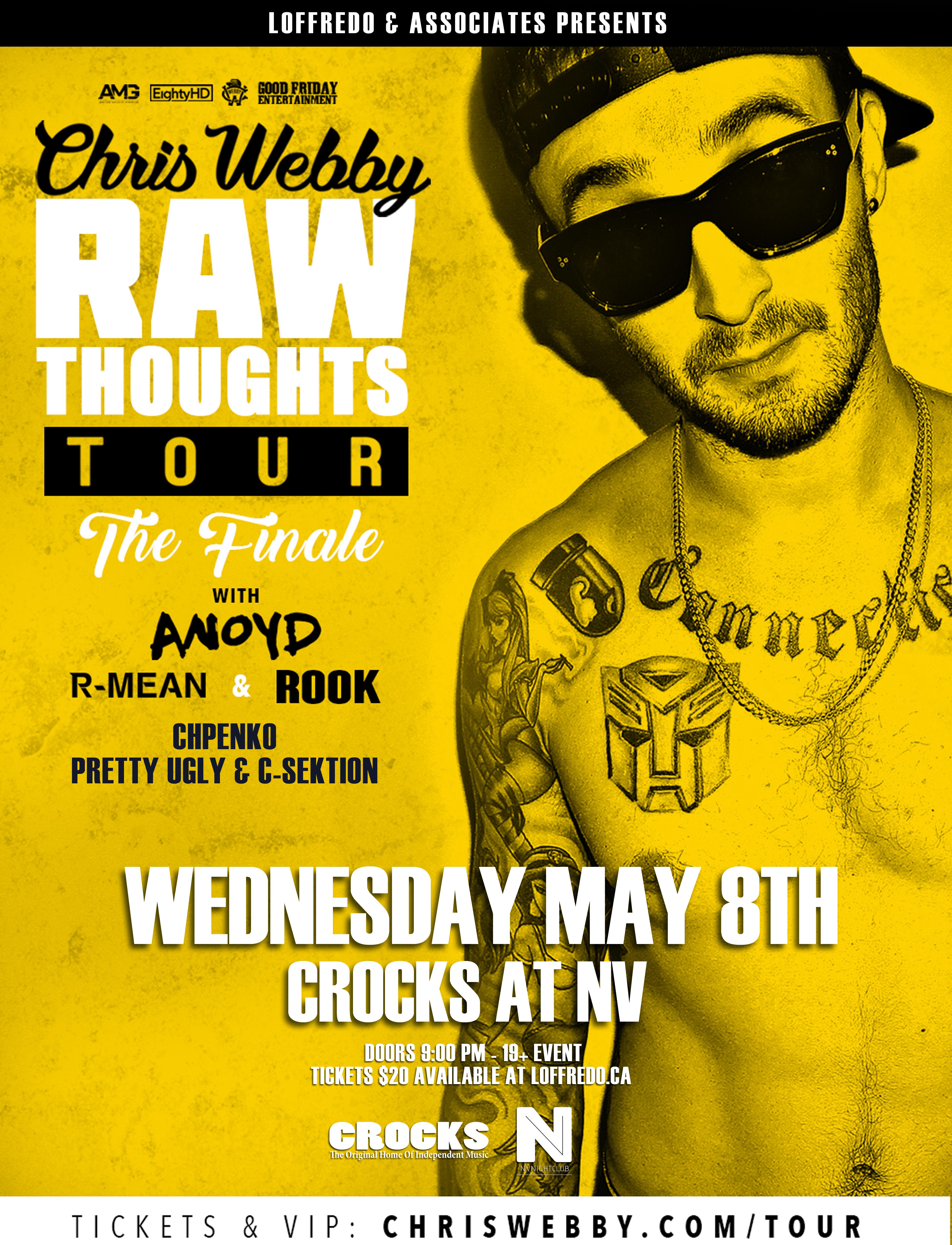 ALL ACCESS Pass Package: Chris Webby - May 8th - Crocks at NV 00293